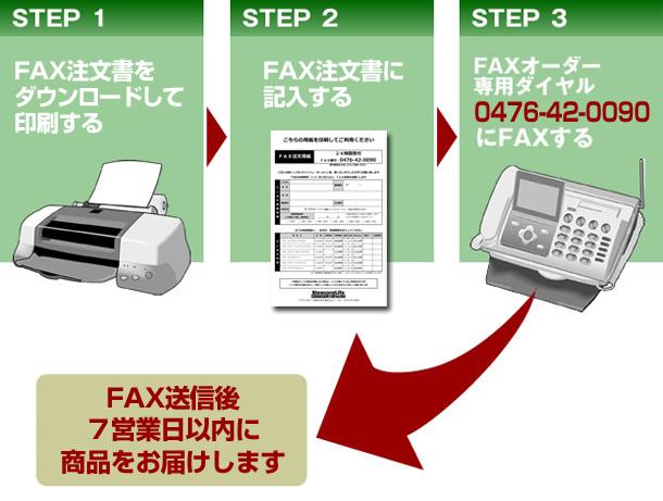 簡単にFAX注文が可能です